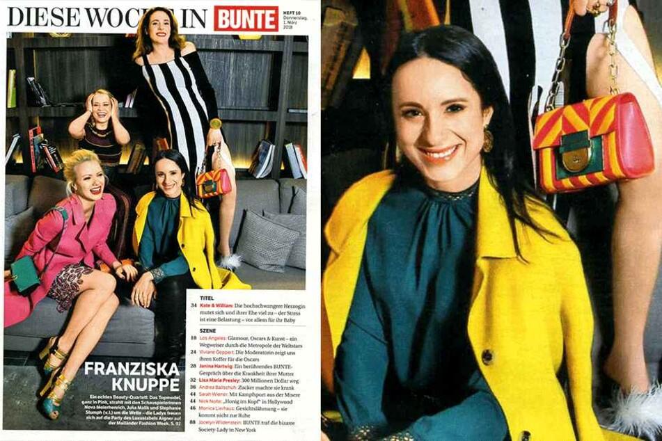 """Im Frauen-Quartett schaffte es Stephanie Stumph auf die erste Seite der Illustrierten """"Bunte""""."""