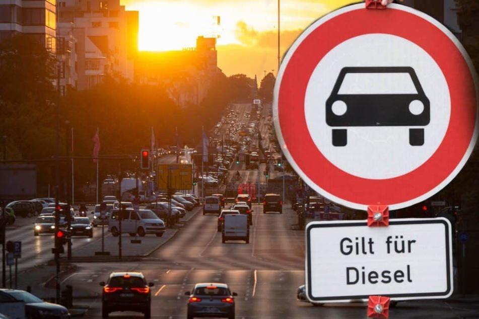 Ab Ende Juni 2019 sollen auch auf elf Berliner Straßenabschnitten Fahrverbote für alte Diesel-Stinker gelten. (Bildmontage)