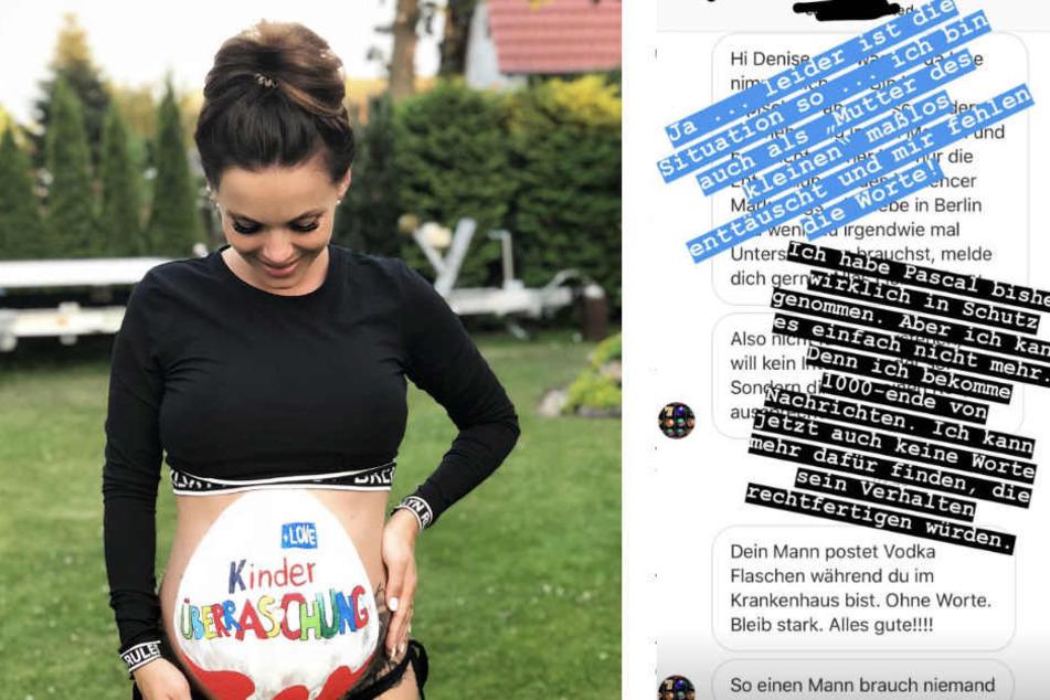 Denise postete in ihrer Story einige Fan-Nachrichten und kommentierte diese.