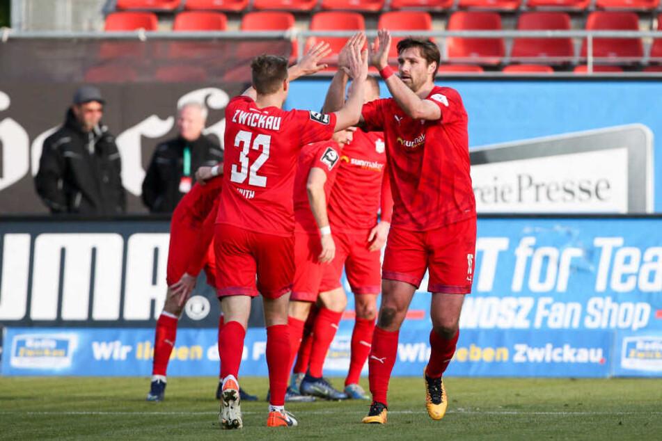 Ronny König brachte Zwickau schon in der vierten Minute 1:0 in Führung.