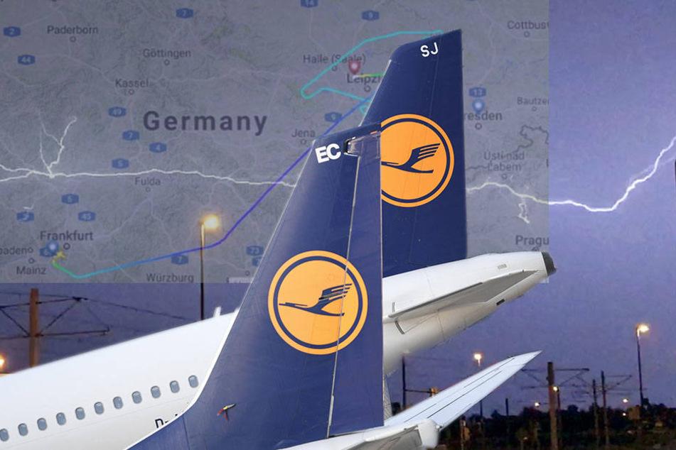 Wegen schweren Unwettern! Lufthansa-Maschine kann nicht in Dresden landen