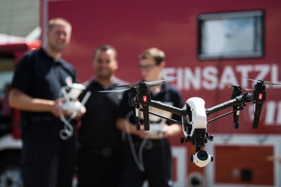 Die Darmstädter Feuerwehr will die Drohne auch zur Vermisstensuche nutzen.