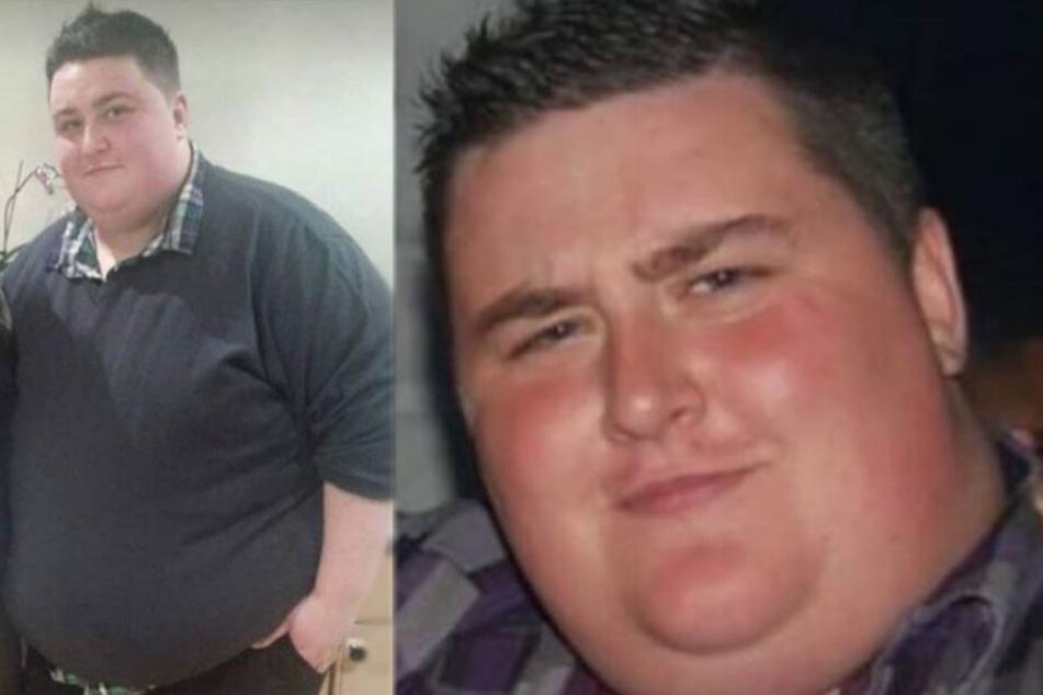 Aaron Snares (27) vor seiner Diät.