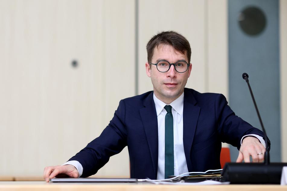 Sebastian Striegel (39, Grüne), der Vorsitzende des Parlamentarischen Untersuchungsausschusses.