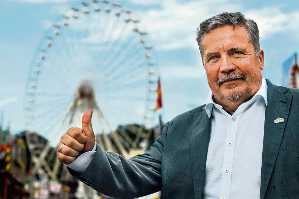 """Tritt als Zugpferd für die Freie Wählergemeinschaft """"Wir für unsere Stadt/Liste Sport"""" an: Annabergs OB Rolf Schmidt (59)."""