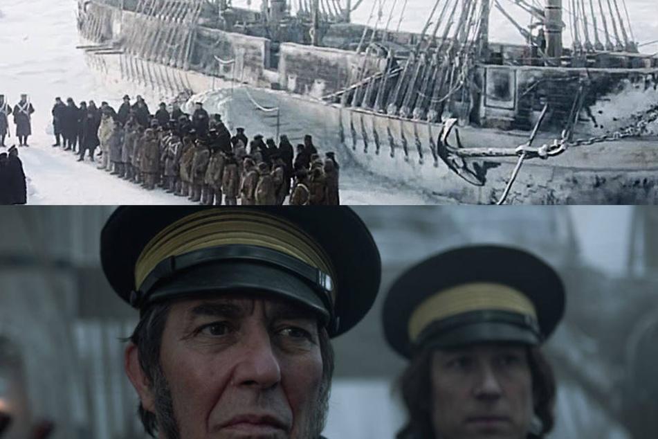 """""""The Terror"""" von Ridley Scott mit Ciarán Hinds und Tobias Menzies."""