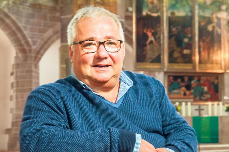 Solidarität mit Diakon Jens Ullrich: Pfarrer Frank Meinel aus Schneeberg.