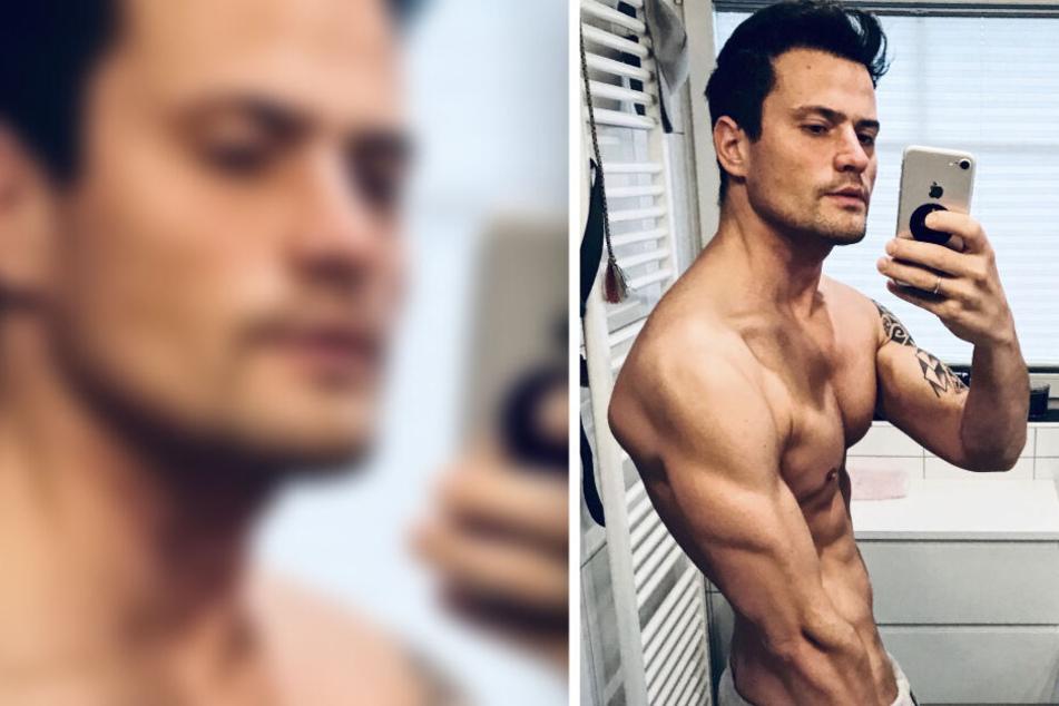"""Mit einem """"Guten Morgen"""" und jeder Menge Muskeln startet Rocco Stark in den Tag."""
