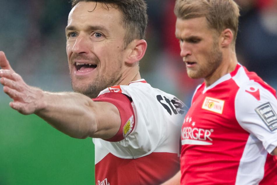 Beide wollen Erstliga-Fußball spielen: VfB-Kapitän Christian Gentner und Unions Sebastian Andersson. (Fotomontage)