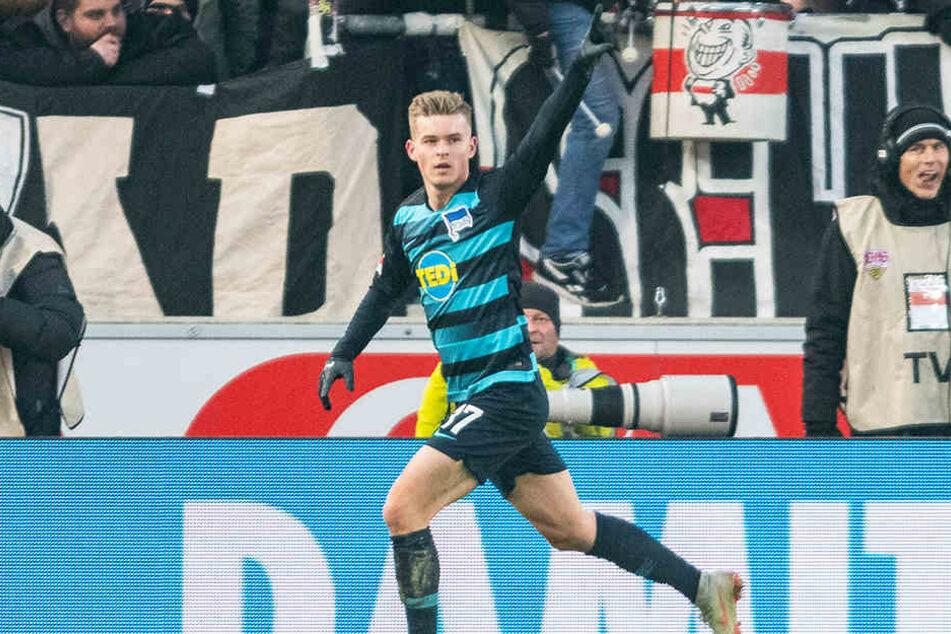 Da war noch alles in Ordnung: Maximilian Mittelstädt traf für Hertha zum zwischenzeitlichen 1:0.