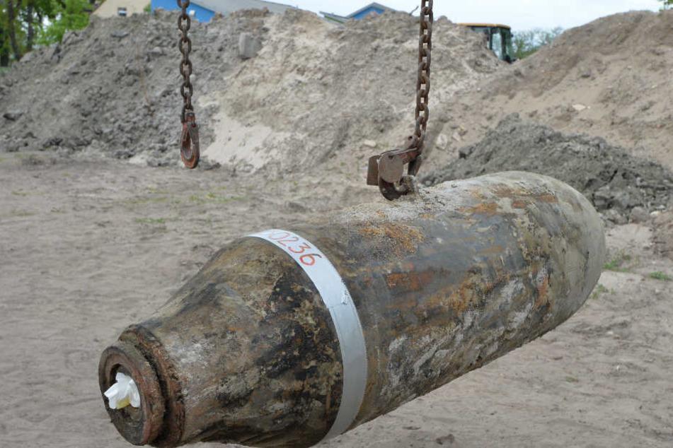 Die Weltkriegsbombe wurde bei Bauarbeiten gefunden (Symbolfoto).