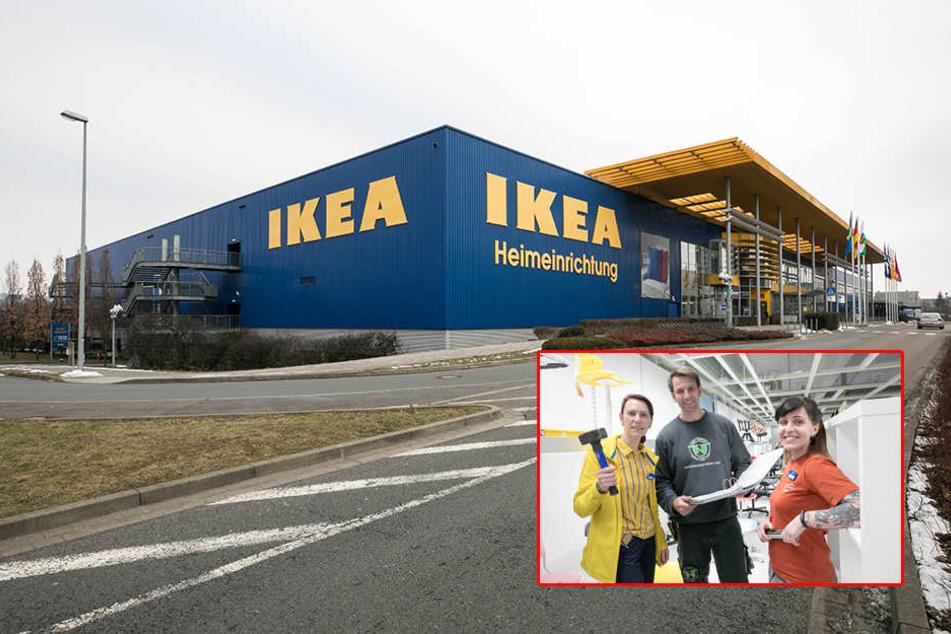 Umbau läuft: Ikea in Dresden setzt auf den Wow-Effekt