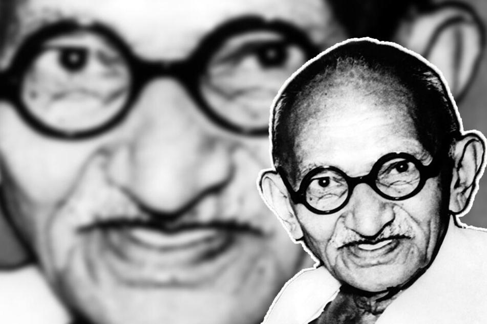 Widerstandskämpfer Mahatma Gandhi wurde 78 Jahre alt.