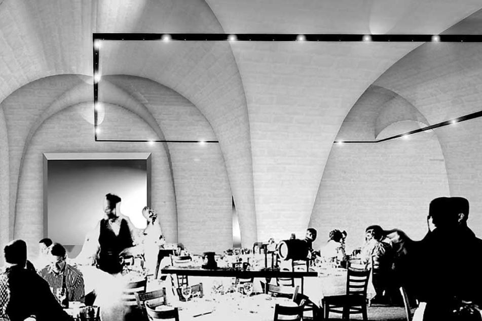 Zu Augusts Zeiten undenkbar. So könnte das Restaurant einmal aussehen.