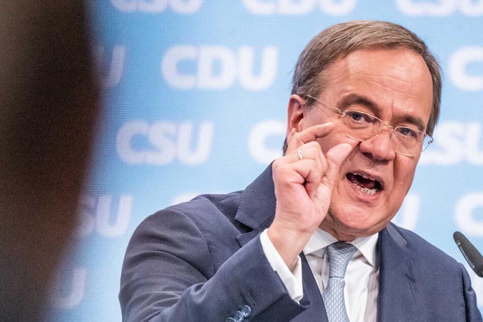 """Unions-Kanzlerkandidat Armin Laschet (60) will dafür sorgen, dass """"dieses Land nicht von Ideologen übernommen wird""""."""