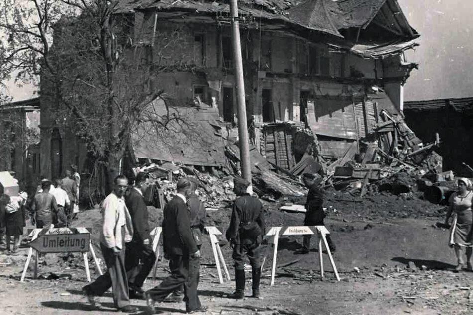 Prominentes Bombenopfer: der Birkigter Gasthof.