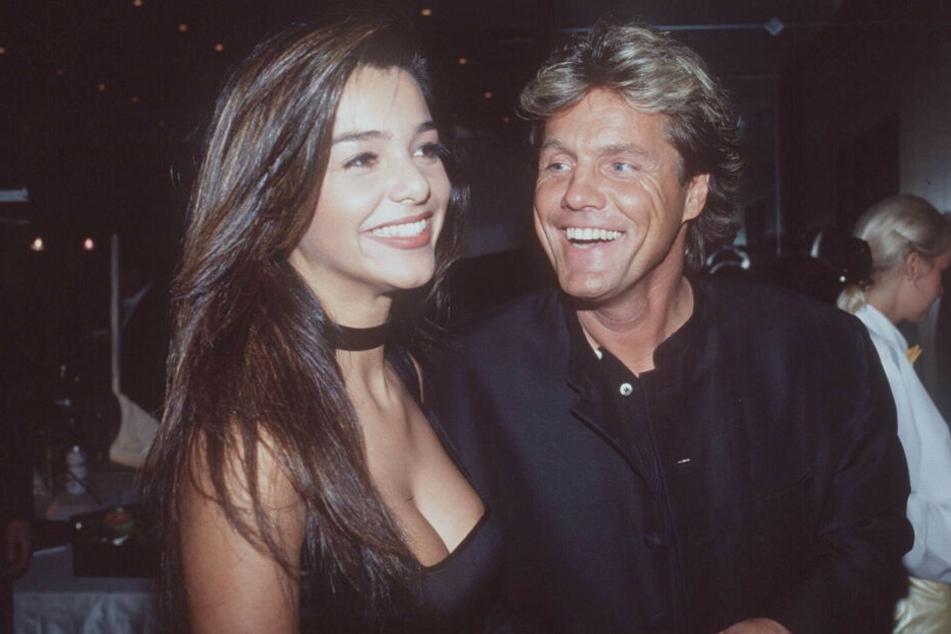 Verona Pooth und Dieter Bohlen lachen bei einem gemeinsamen Auftritt im Jahr 1996. (Archivfoto)