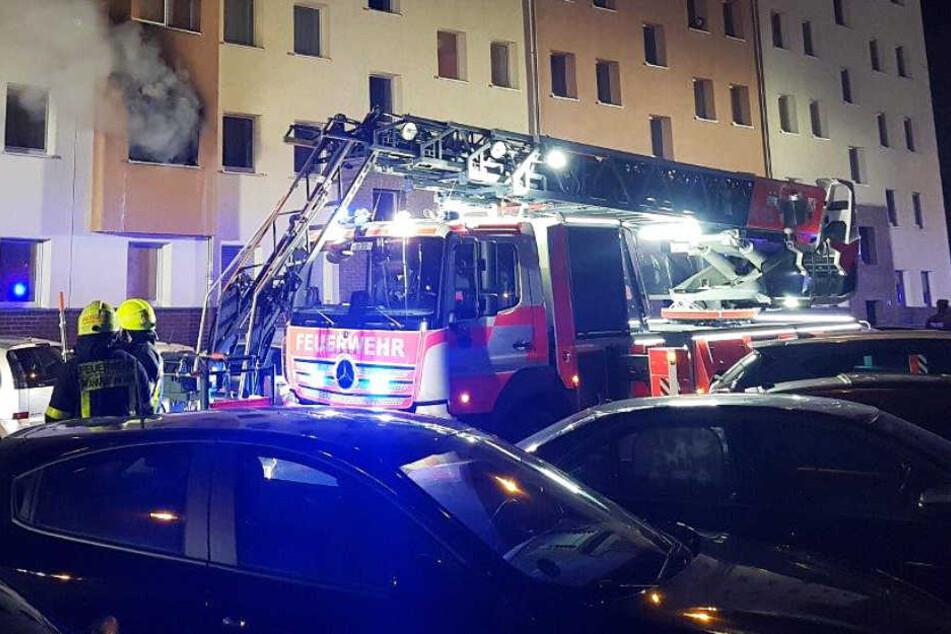 Es brannte im ersten Stock eines Gebäudes in Frankfurt-Nordend.