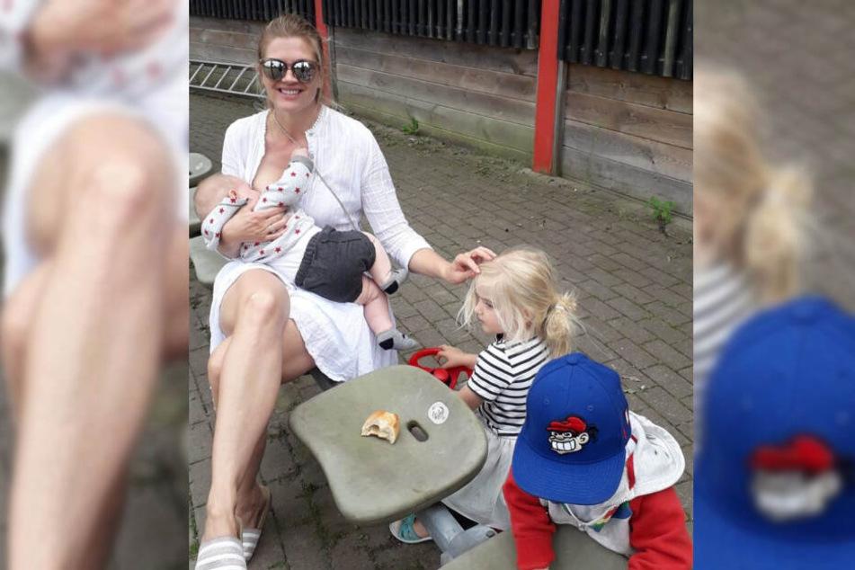 TV-Moderatorin Nina Bott stillte ihren Sohn in der Öffentlichkeit.