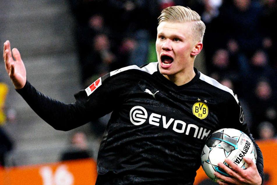 Erling Haaland erzielte bei seinem Bundesliga-Debüt für Borussia Dortmund in 23 Minuten einen Dreierpack.