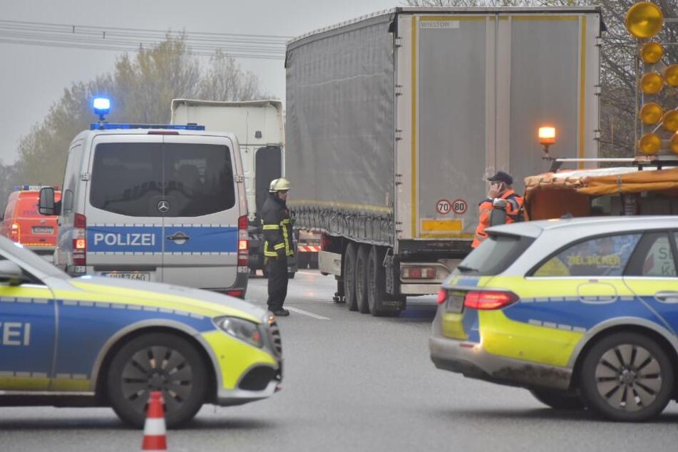 Auf der A1 krachte ein Lastwagen in einen anderen.