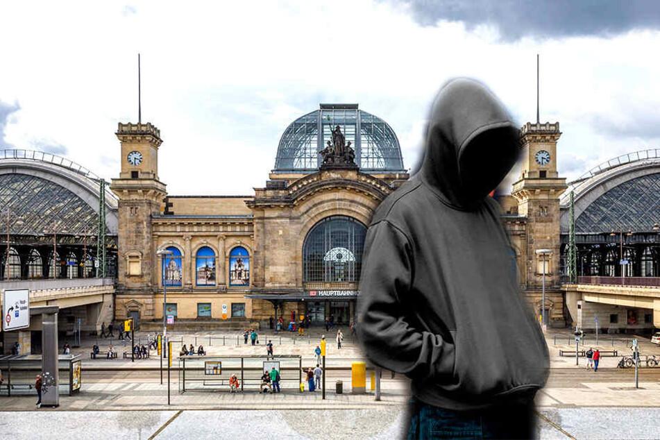 Am Dresdner Hauptbahnhof stoppte die Polizei einen Kapuzenmann. (Symbolbild)