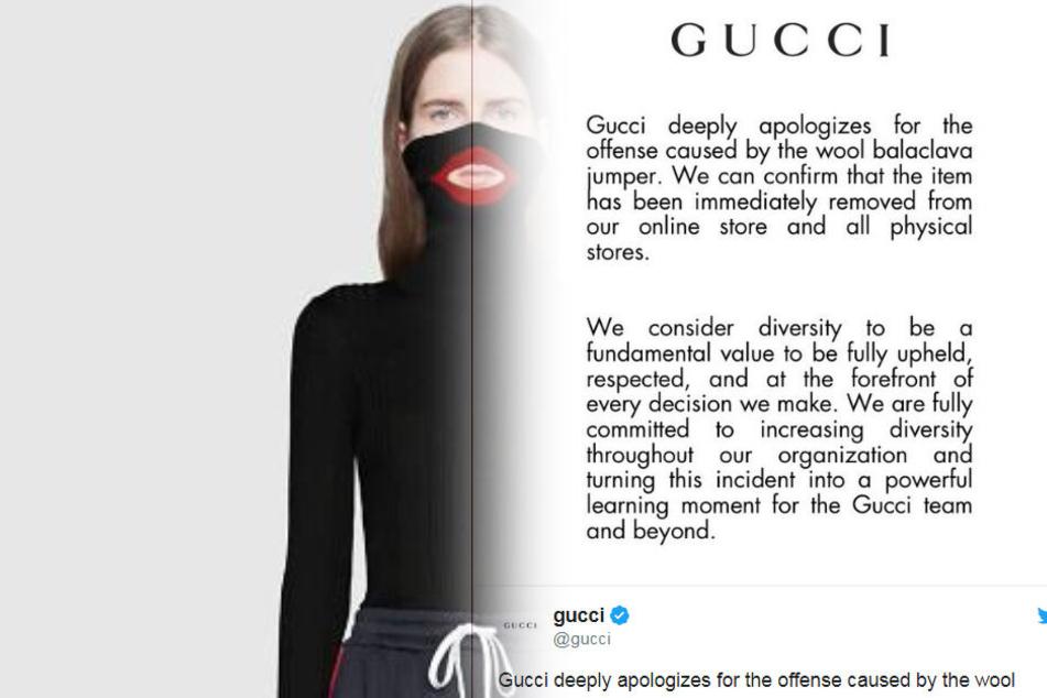 Gucci entschuldigt sich zutiefst.