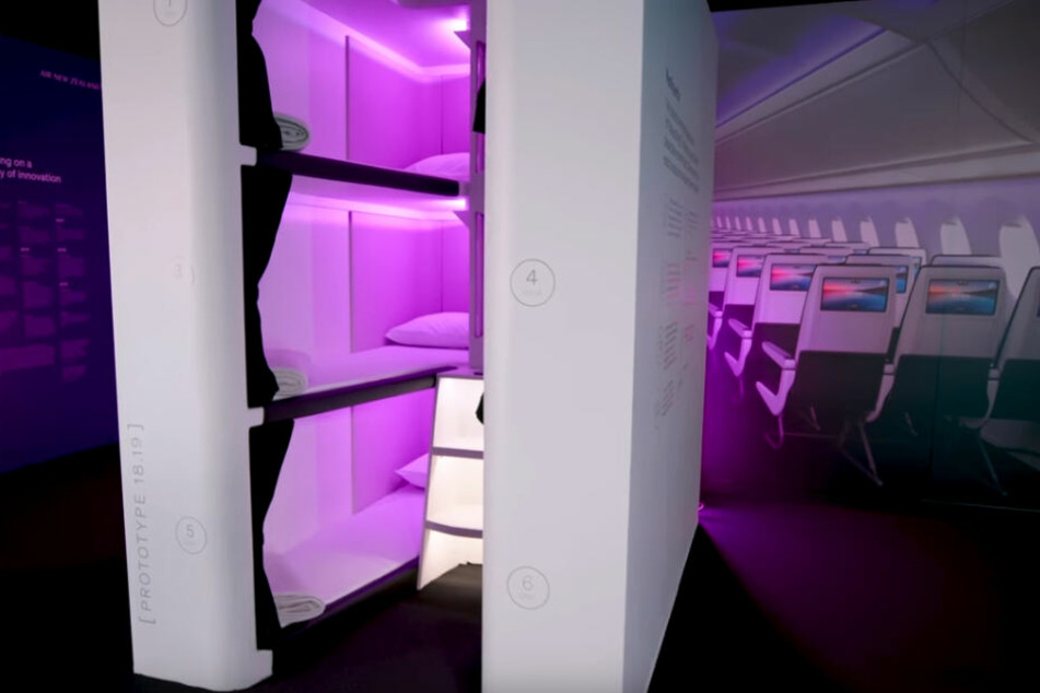 So sollen die Schlafkabinen an Bord der Air New Zealand aussehen.