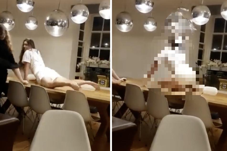 Frau twerkt auf Esstisch: Was dann passiert, bringt unzählige Menschen zum Lachen