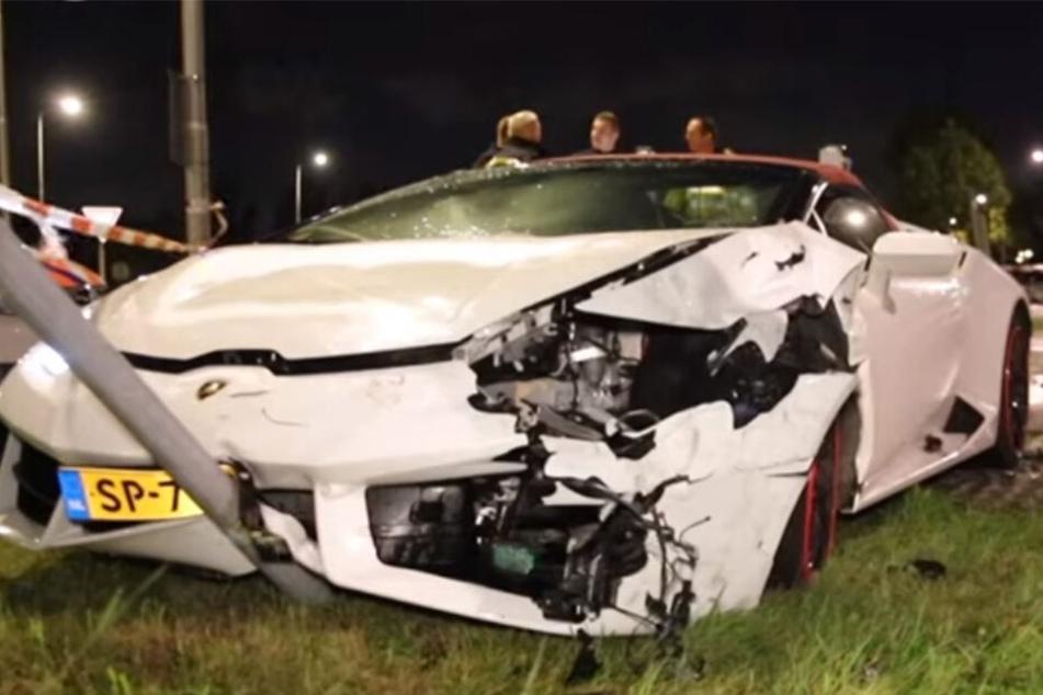 Krasser Unfall mit 300.000-Euro-Lamborghini: Opfer bespuckt