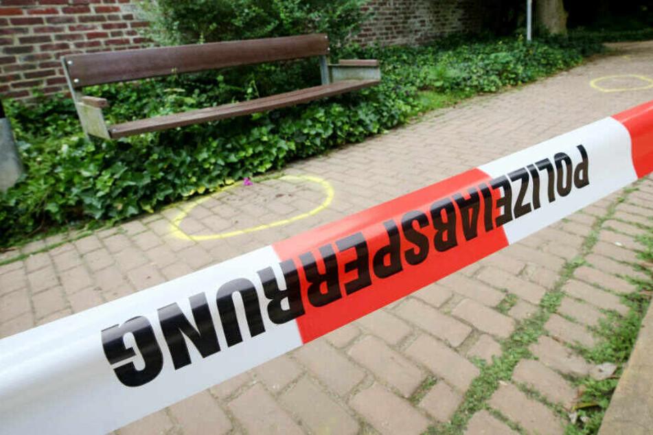 Der Tatort in einem Park in Viersen.