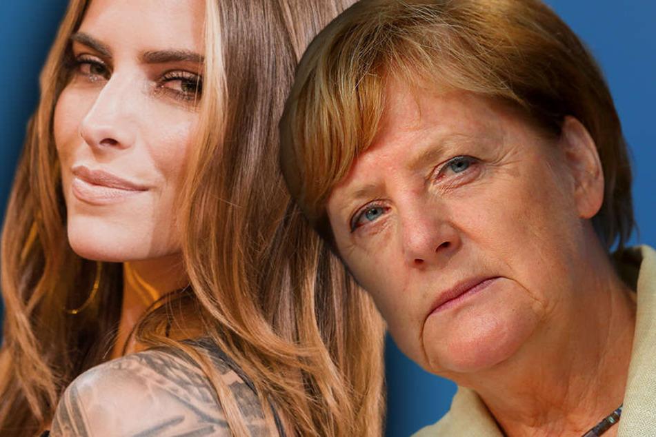 Ein ungleiches Duo - ein gemeinsames Ziel: Thomalla und Merkel.