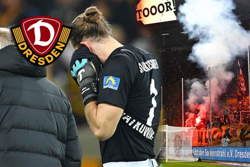 Dynamo-Fans jagen und schnappen Böllerwerfer im eigenen Block!