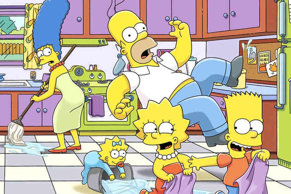 Homer, Maggie, Lisa, Homer und Bart (v.l.n.r.) werden im neuen Simpsons-Streifen zu sehen sein.