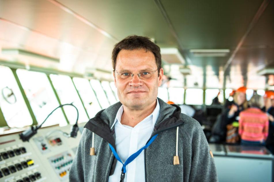 """Markus Rex, Leiter des Forschungsteams auf dem Forschungsschiff """"Polarstern""""."""
