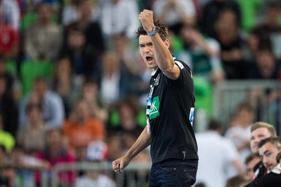 Christian Prokop, der noch bis Sommer Trainer beim SC DHfK Leipzig ist, feierte mit der Nationalmannschaft den ersten Pflichtspielsieg.
