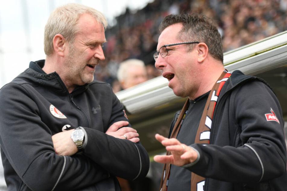 Sportchef Uwe Stöver und Trainer Markus Kauczinski wurden beim FC St. Pauli Anfang April freigestellt.