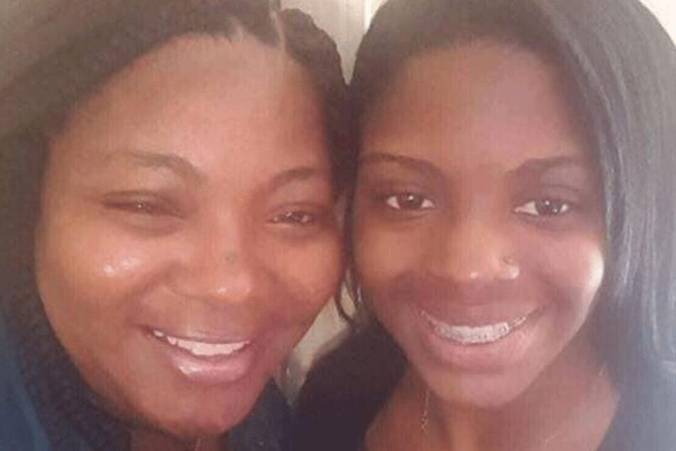 Kamiya Mobley (rechts, 19) mit ihrer leiblichen Mutter Shanara Mobley (37).