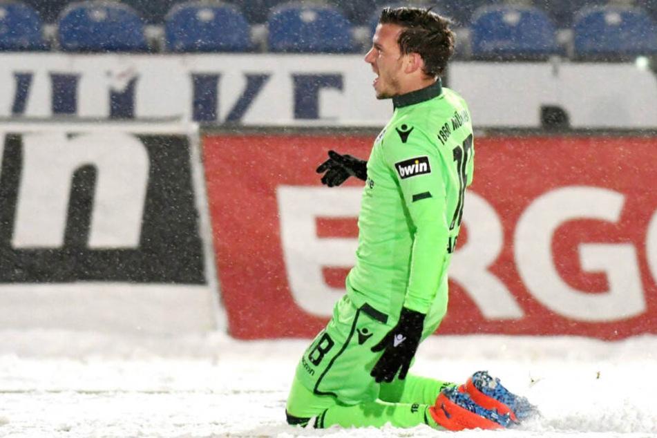Nico Karger hatte den TSV 1860 München in Lotte früh in Führung geschossen.