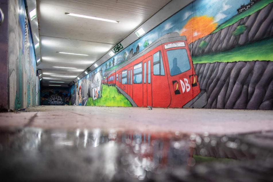 Die Bahn setzt auf professionelle Graffiti an etlichen Bahnhöfen. Sie bleiben in der Szene in der Regel unangetastet von Tags.