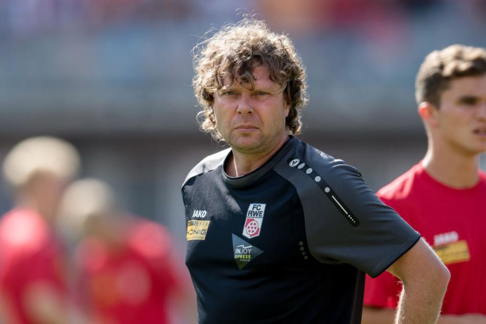 Stefan Krämer war bis 2. Oktober Cheftrainer von Rot-Weiß-Erfurt.