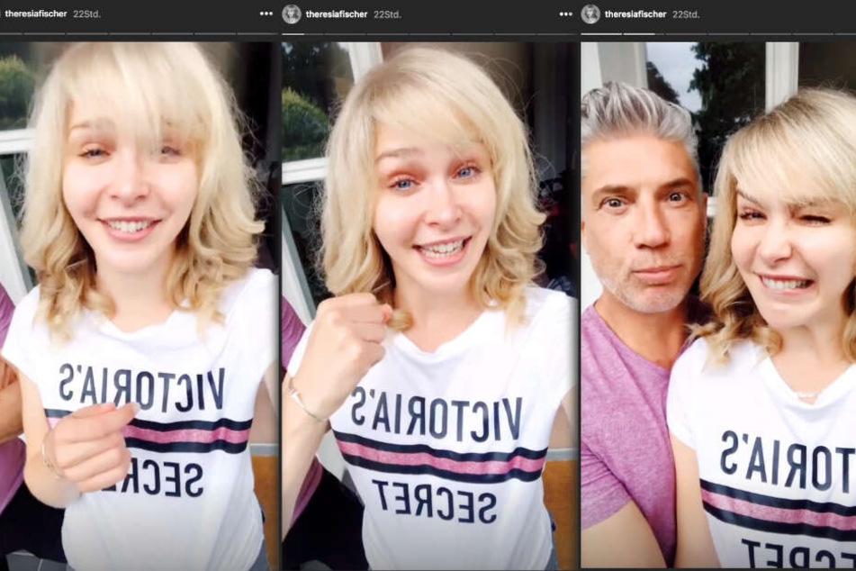 In ihrer Instagram-Story verabschiedete sich Theresia vorerst von ihren Fans. (Fotomontage)