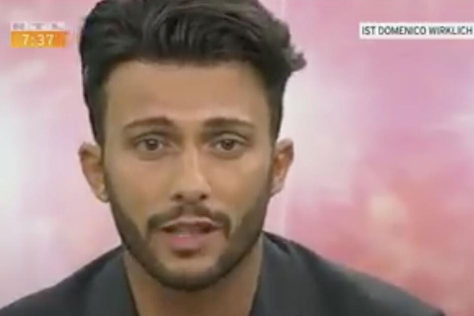 Alles Lüge! Domenico verkündete letzten Sommer noch im TV seine Liebe zu der Blondine (Archivbild).