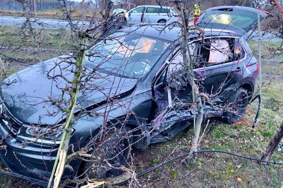 Beide Autos erlitten durch den Unfall einen Totalschaden.
