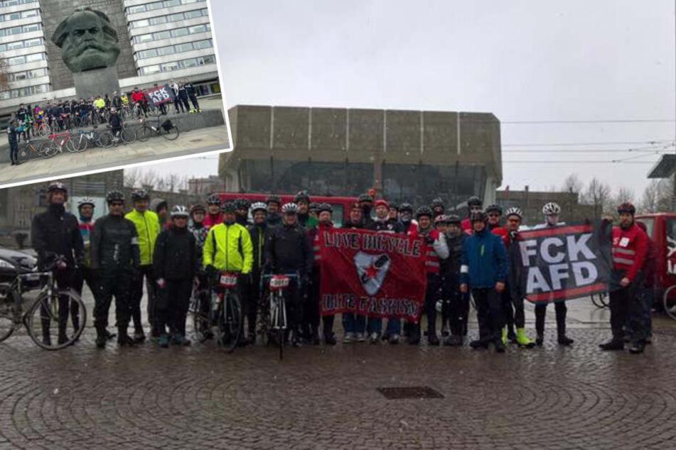 210 Kilometer gegen Rechts: Leipziger Rad-Demo zieht einmal nach Chemnitz und zurück