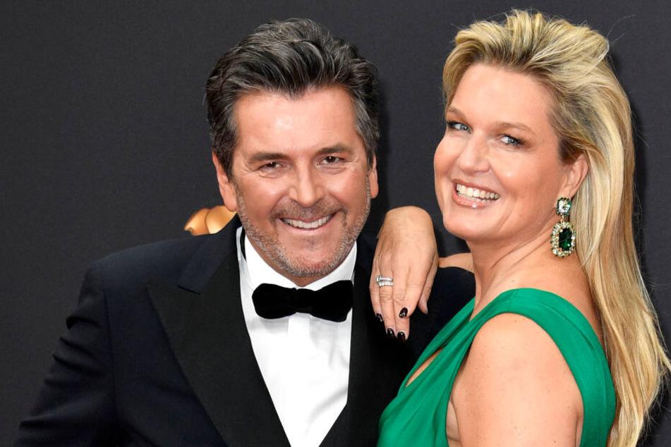"""""""Modern Talking""""-Star Thomas Anders (56) war mit Ehefrau Claudia (47) einer der ersten Gäste auf dem roten Teppich."""