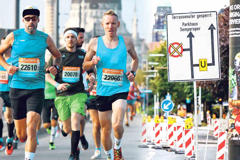Weil die Dresdner City ständig dicht ist! Anwohner fordern Verbot von Sport-Events