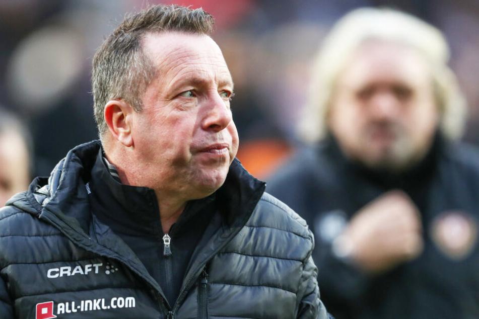 Dynamo-Trainer Markus Kauczinski war nach der Pleite in Osnabrück unzufrieden.