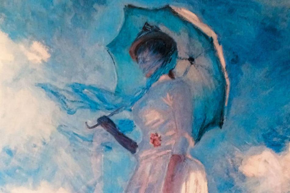"""So stellt sich Otto seine Retterin vor: Das Gemälde der  unbekannten Dame wurde zum Sinnbild seiner """"Lady""""."""