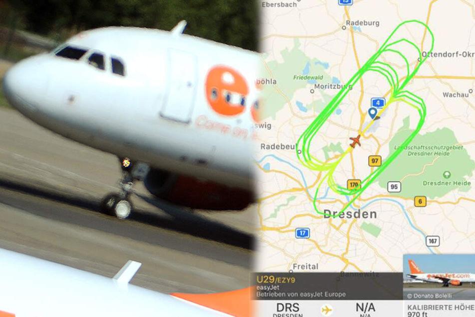 Deshalb kreist ein Flugzeug seit Stunden über Dresden
